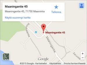 Kartta Maaninka